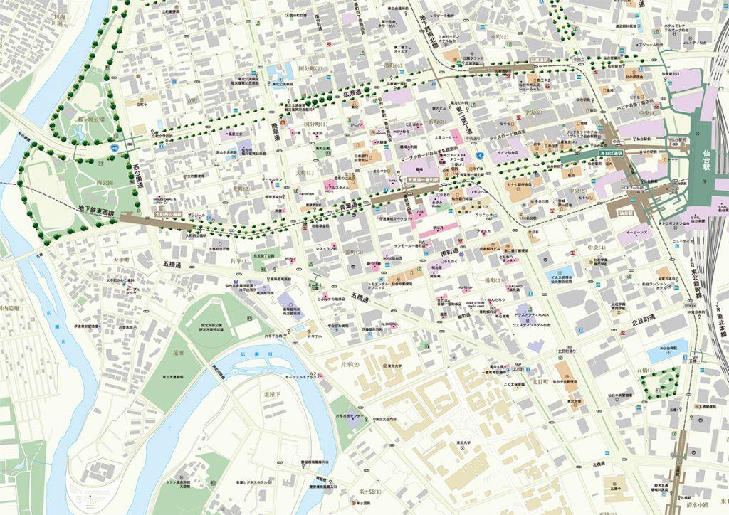 市内中心図